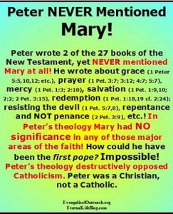 Mary not mentioned