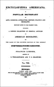Encyclopaedia Americana Francis Lieber
