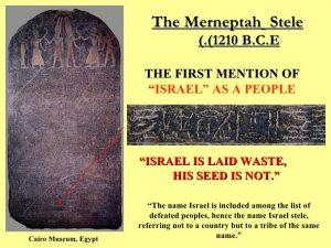 The Merneptah Stele
