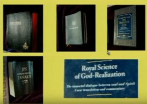 Books on the masonic alter