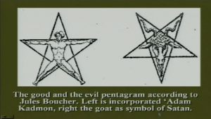Good and evil pentagram