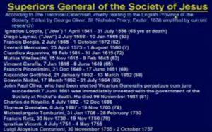 Jesuit Generals list