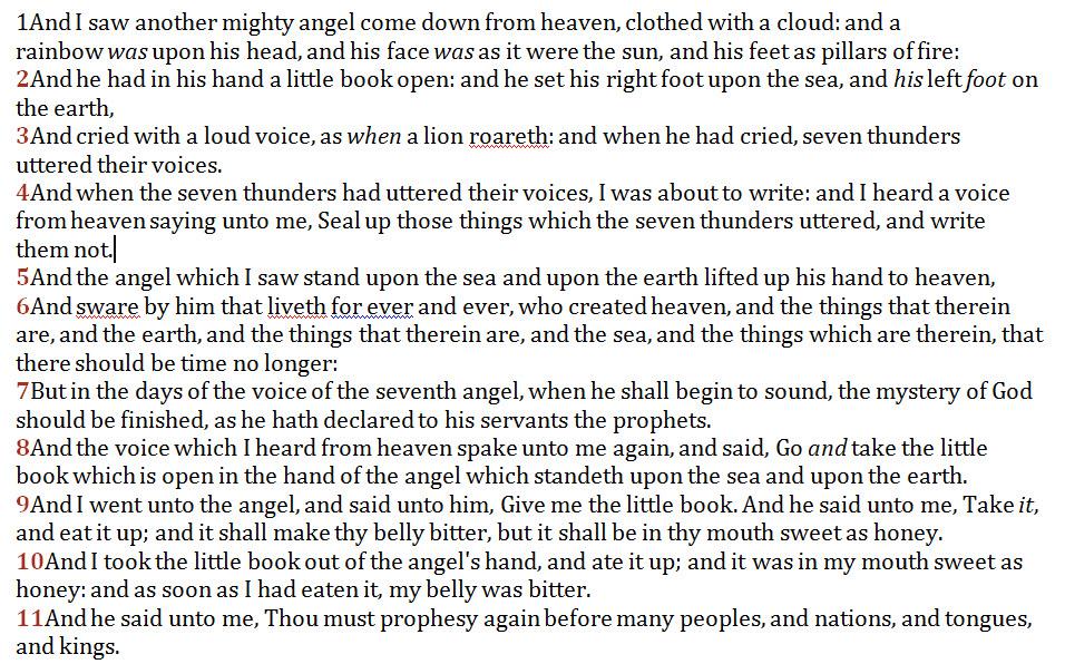 Revelation 10 The Seven Thunders-The Little Book & SDA